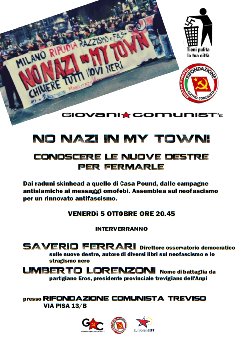 NO NAZI IN MY TOWN