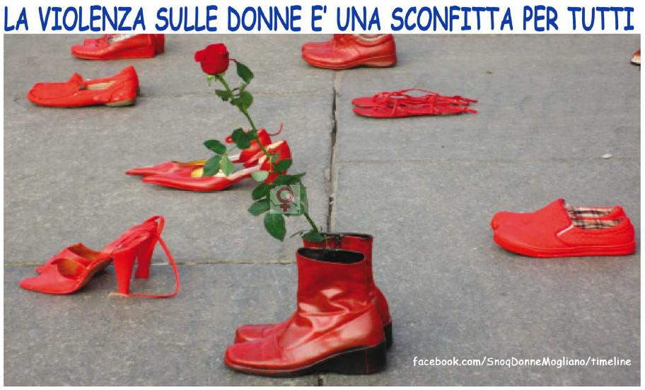 25 novembre scarpe rosse contro la violenza comunistimogliano 25 novembre scarpe rosse contro la