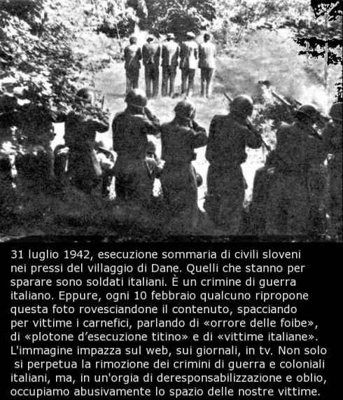 31 luglio 1942: esecuzione sommaria di civili sloveni nei pressi del villaggio di Dane