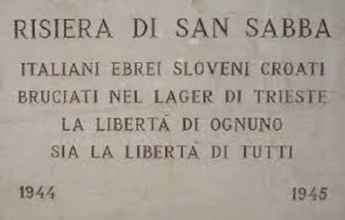 Il 4 aprile 1944 alla Risiera di San Sabba entra in funzione il forno crematorio. La struttura viene inaugurata con la cremazione di settanta cadaveri di ostaggi fucilati nel poligono di tiro di Opicina